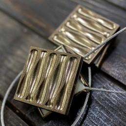 Magnet decorativ patrat, bronz