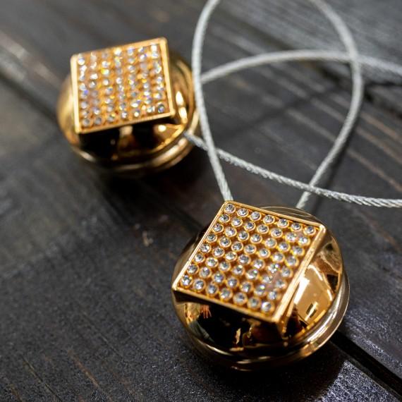 Magnet decorativ rotund, auriu