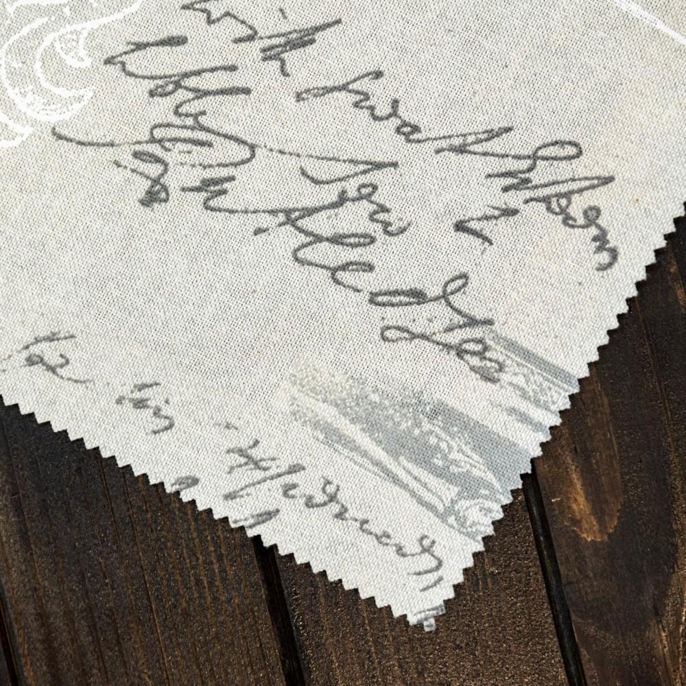 "Draperie ""Happy Home"", Letter, gri"